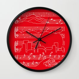 Moonlight Sonata Red Wall Clock