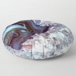 Ocean Blues Quartz Crystal Floor Pillow