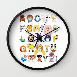 Child of the 80s Alphabet Wall Clock