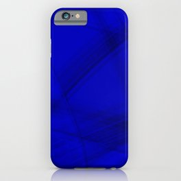 Shaded stone facets with blue diagonal lines of intersecting glowing bright energy waves. iPhone Case