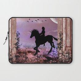 The unicorn with fairy Laptop Sleeve
