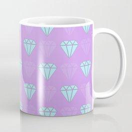Diamond pattern purple Coffee Mug
