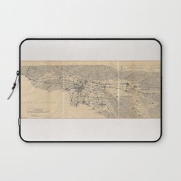 Vintage 1915 Los Angeles Area Map Laptop Sleeve