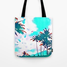 Lanikai Coconut Trees Tote Bag
