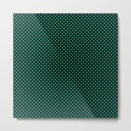 Black and Emerald Polka Dots Metal Print