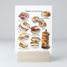 Bagels of New York City Mini Art Print