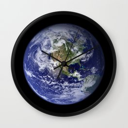 Planet Earth - The Blue Marble From Space Wall Clock