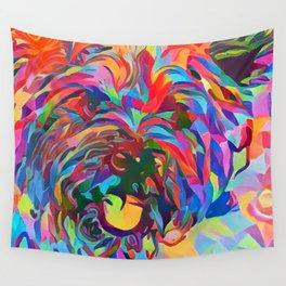 Abstract Doggo Wall Tapestry
