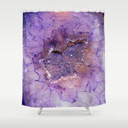 Amethyst Geode Shower Curtain