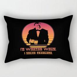 Winston Wolfe. I solve problems Rectangular Pillow