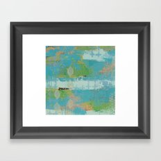 Just be. Framed Art Print