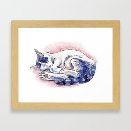 Sleeping Daphne Framed Art Print