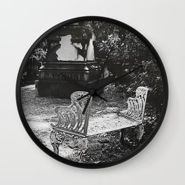 By the Grave I Mourn Wall Clock
