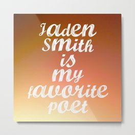 My Favorite Poet Metal Print