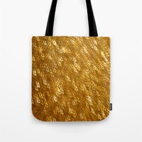 gold glitter Tote Bags featuring Gold Glitter 1324 by Cecilie Karoline