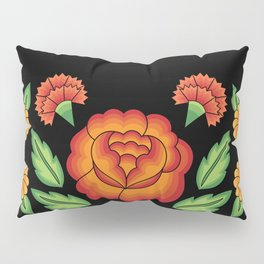 Mexican Folk Pattern – Tehuantepec Huipil flower embroidery Pillow Sham