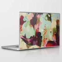 "flora bowley Laptop & iPad Skins featuring ""Deep Embrace"" Original Painting by Flora Bowley by Flora Bowley"