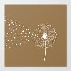 Dandelion and birds - sedona color Canvas Print