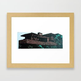 Frank Lloyd Wright linocut study #1 Framed Art Print
