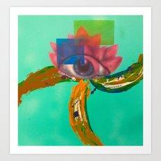 Third eye (lotus) Art Print