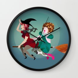 The Witch and the Clown Wall Clock