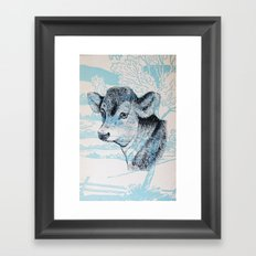 Calf in the Pasture Framed Art Print