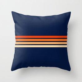 Retro 4 Thin Stripes Throw Pillow