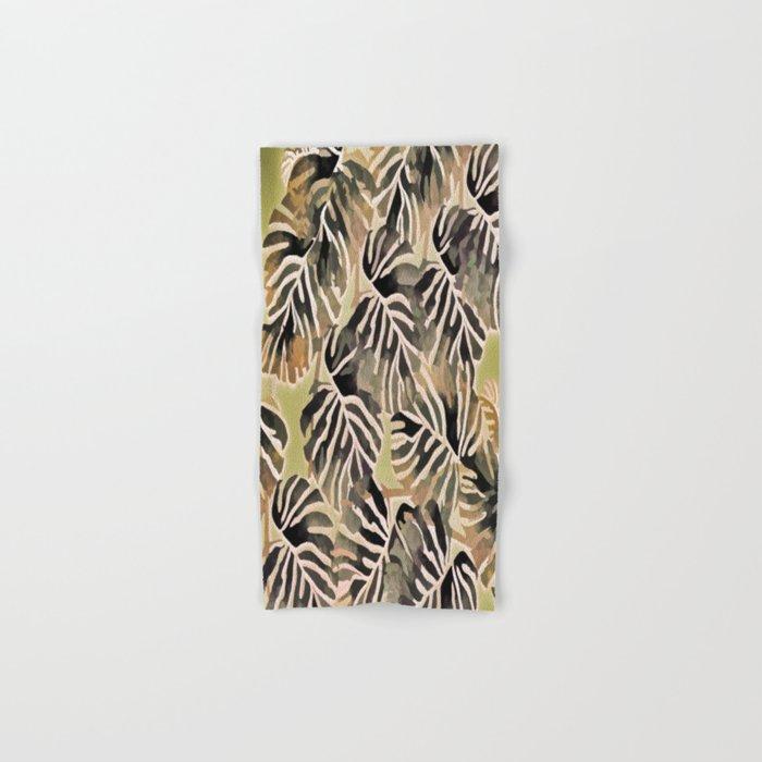 Vintage Leaf Abstract Hand & Bath Towel