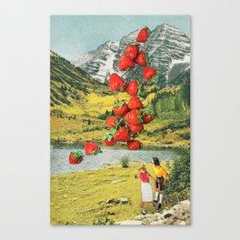 Strawberry Avalanche Canvas Print