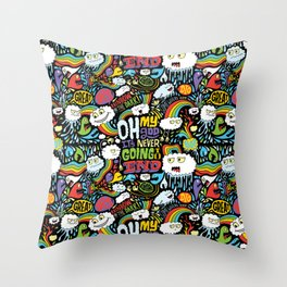 Rainbow in the Dark Throw Pillow