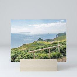 Dorset coast panoramic view Mini Art Print