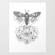 All Seeing Death's Head Art Print