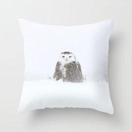 White on white Throw Pillow