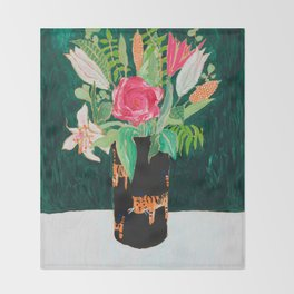 Tiger Vase Throw Blanket