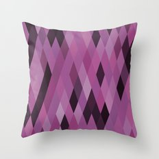 Muted Berry Color Harlequin Pattern Throw Pillow
