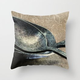 Tarnished Spoons Throw Pillow