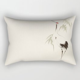 Oriental Red-Crowned Crane 001 Rectangular Pillow