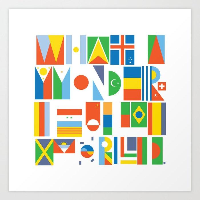 What A Wonderful World II Art Print