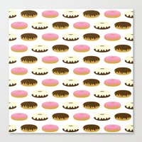 donuts Canvas Prints featuring Donuts by Sara Showalter
