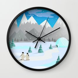 Christmas #Winter Wall Clock