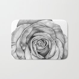 Rose Drawing Bath Mat