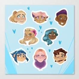 She-Ra Princess Rebellion Set Canvas Print