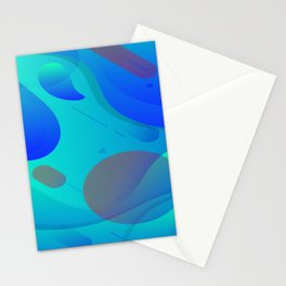 Purple Blue And Green Abstract Design Stationery Cards