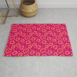 Amoeba Print, Pink and Orange! Rug