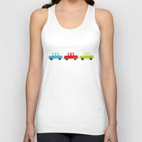 cars Tank Tops featuring cars by laura mendoza v.