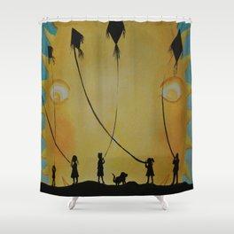 Papalotes (kites) Shower Curtain