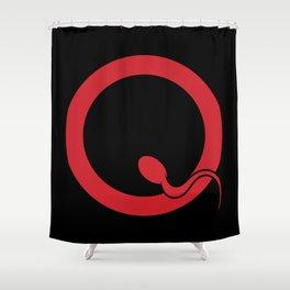 Spermy Q Shower Curtain