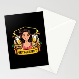 Oktoberfest Frau Drindl Beer Stationery Cards