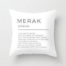 Merak Definition Throw Pillow