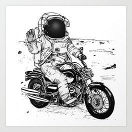 Moon Biker Art Print